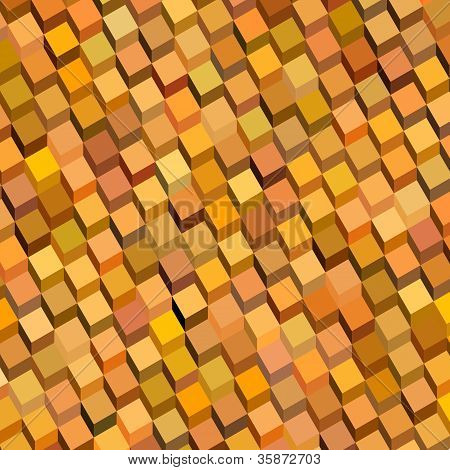 abstract cube pattern backdrop in orange yellow poster