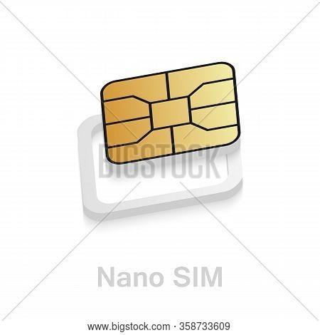 Realistic Esim To Nano Sim Card Adapter. Phone Sim-card Converter Kit.
