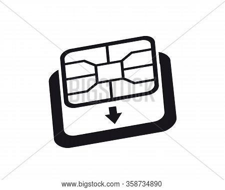 Esim To Nano Sim Card Adapter Icon. Phone Sim-card Converter Symbol.