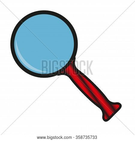 Magnifying Glass On A White Background. Magnifier Or Magnifier Sign, Search And Research Flat Symbol