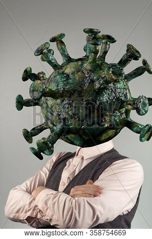 Ignorant Businessman Coronavirus Infection