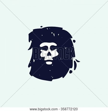 D Letter Logo With Skull Face. Hand Written Shaggy Grunge Style. Perfect Typeface For Horror Labels,
