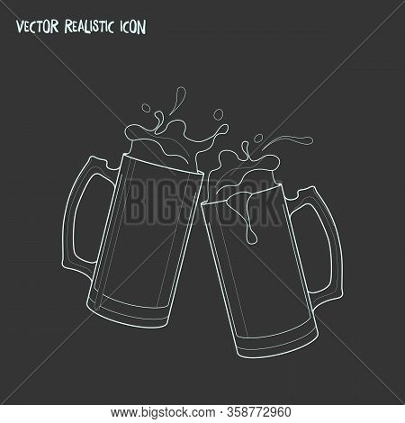 Cheers Icon Line Element. Vector Illustration Of Cheers Icon Line Isolated On Clean Background For Y