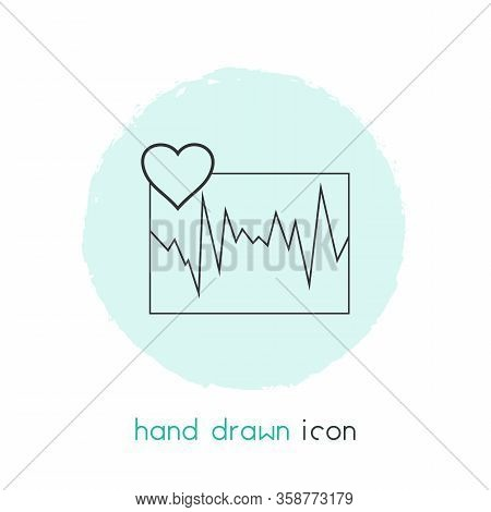 Cardiogram Icon Line Element. Vector Illustration Of Cardiogram Icon Line Isolated On Clean Backgrou