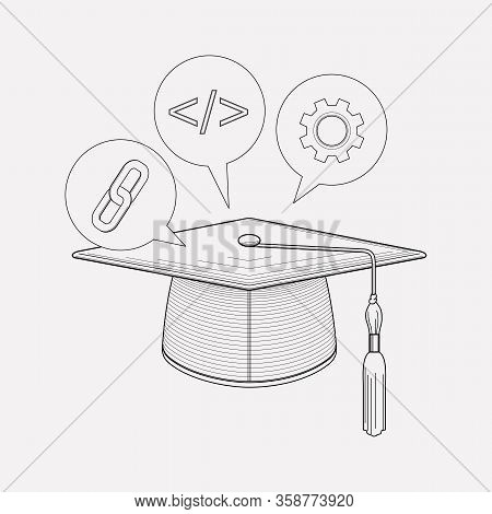 Seo Guide Icon Line Element. Vector Illustration Of Seo Guide Icon Line Isolated On Clean Background