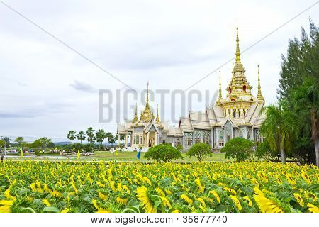 Wat Non Goom the public temple at Nakhon Ratchasima province Thailand poster