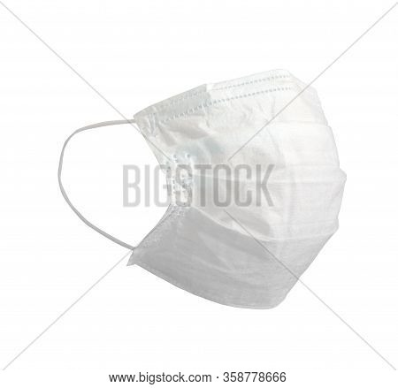 White Medical Mask. Medical Protective Masks Isolated On White Background. Healthcare And Medical Co