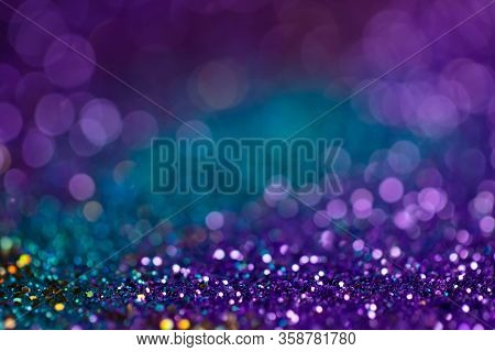 Festive Twinkle Lights Background, Abstract Sparkle Backdrop With Circles, Modern Design Wallpaper W