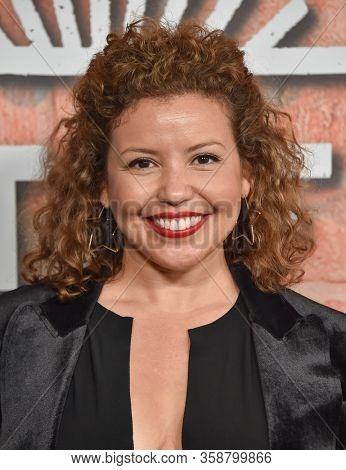 LOS ANGELES - FEB 20:  Justina Machado {Object} arrives for Netflix's 'Gentefied' Premiere on February 20, 2020 in Los Angeles, CA