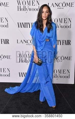 LOS ANGELES - FEB 06:  Cara Santana {Object} arrives for Vanity Fair Lancome Women in Hollywood Party on February 06, 2020 in West Hollywood, CA