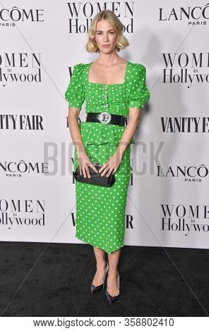 LOS ANGELES - FEB 06:  January Jones {Object} arrives for Vanity Fair Lancome Women in Hollywood Party on February 06, 2020 in West Hollywood, CA