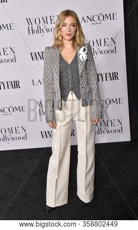LOS ANGELES - FEB 06:  Lea Seydoux {Object} arrives for Vanity Fair Lancome Women in Hollywood Party on February 06, 2020 in West Hollywood, CA