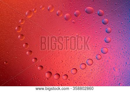 Heart Love Symbol In Neon Light Background Drops Trend 2020 Color Aqua Menthe Classic Blue Lush Lava