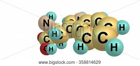 Tryptophan Molecular Structure Isolated On White