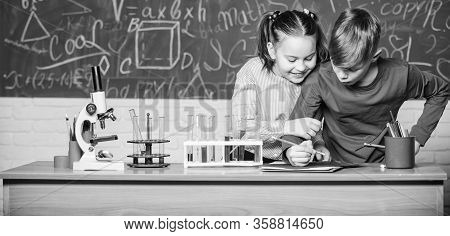 Chemistry Equipment. Happy Children. Chemistry Lesson. Chemistry Education. Little Kids Learning Che