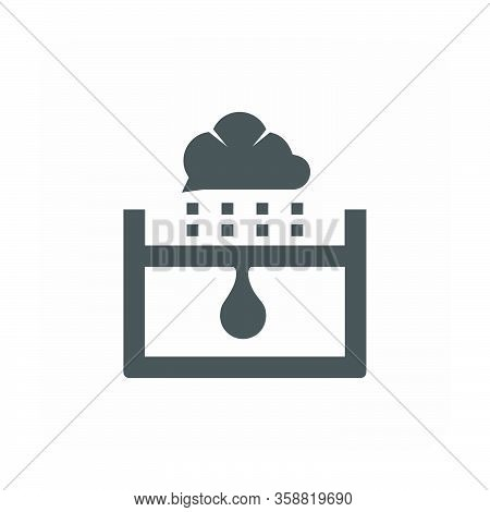 Waterproof And Equipment Icon On White Background.