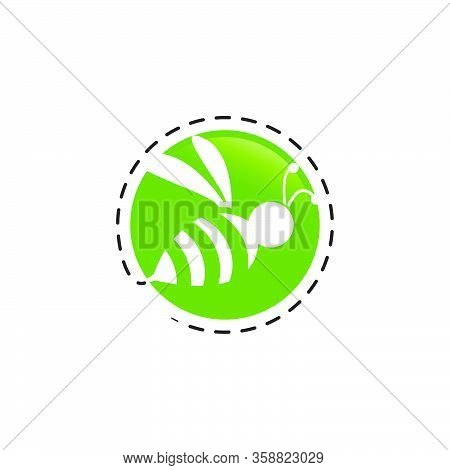 Creative Circle Bee Hornet Logo Design Vector Silhouette Hornets For Sign Logo Badge
