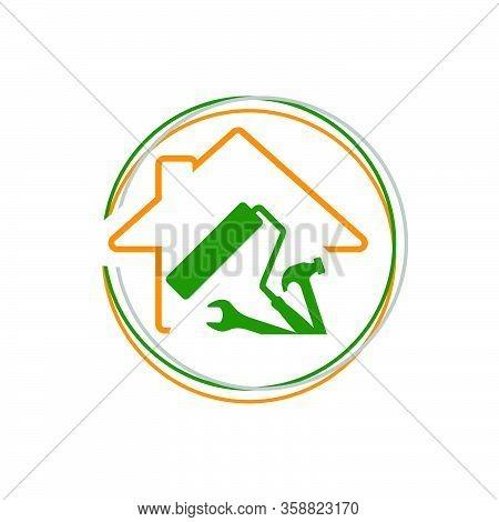 Great House Maintenance Remodel Home Renovation Logo Design Vector Illustrations