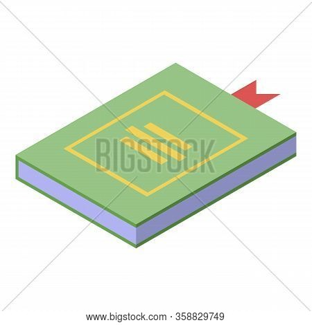 Fortune Teller Book Icon. Isometric Of Fortune Teller Book Vector Icon For Web Design Isolated On Wh