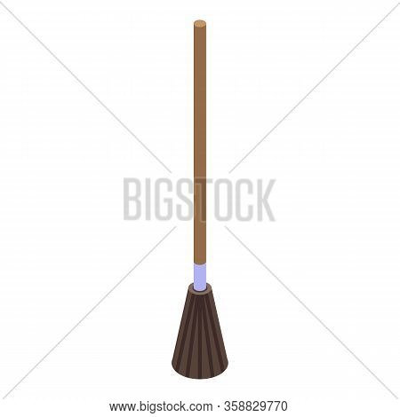 Witch Broom Icon. Isometric Of Witch Broom Vector Icon For Web Design Isolated On White Background
