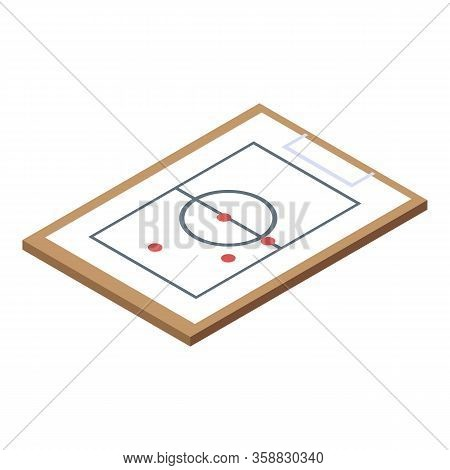 Basketball Tactical Board Icon. Isometric Of Basketball Tactical Board Vector Icon For Web Design Is