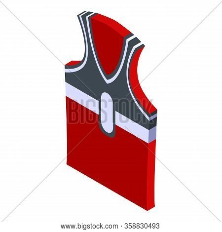 Basketball Vest Icon. Isometric Of Basketball Vest Vector Icon For Web Design Isolated On White Back