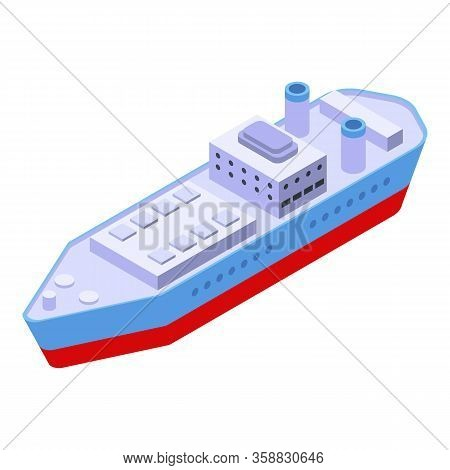 Marine Ship Icon. Isometric Of Marine Ship Vector Icon For Web Design Isolated On White Background