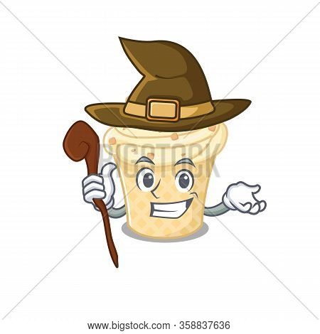Vanilla Ice Cream Sneaky And Tricky Witch Cartoon Character