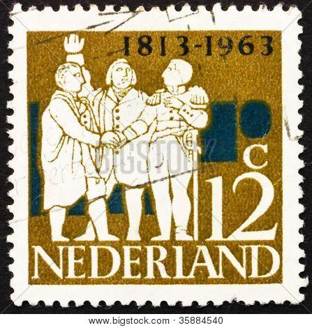 Postage stamp Netherlands 1963 Dutch Leaders