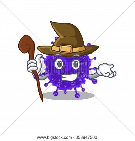 Nidovirales Sneaky And Tricky Witch Cartoon Character