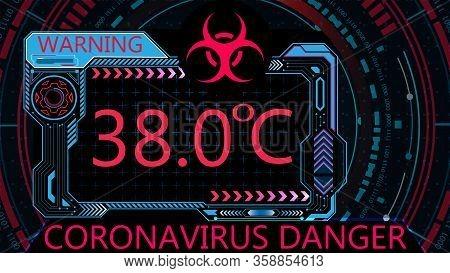 Covid-19. Attention Virus. Graphic Diagnostics. Coronavirus Causes Severe Sars. World Pandemic. Illu