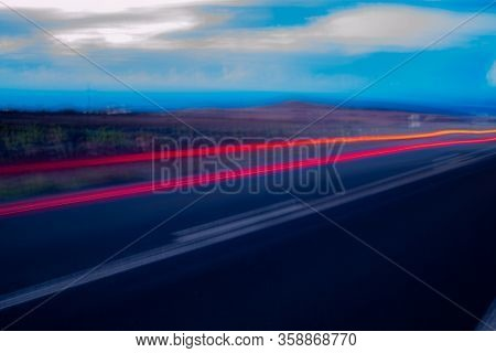 Night Photography And Horizontal In Full Motion Which Gives An Attractive Blur That Could Be Compare