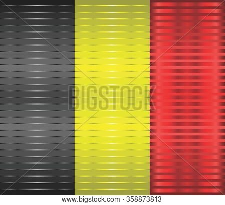 Shiny Grunge Flag Of The Belgium - Illustration,  Three Dimensional Flag Of Belgium