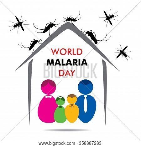 World Malaria Day Concept Illustration Poster Design