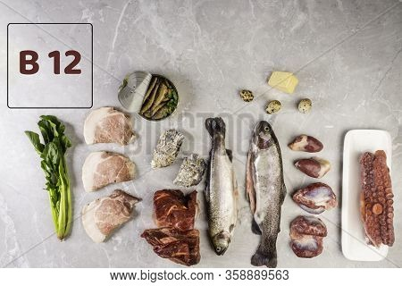 Foods Containing Foods In Vitamin B12 Cobalamin . Healthy Eating, Maintain Normal Metabolism Of Amin