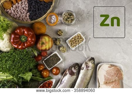 Selection Foods With Anti Inflammatory Vitamins A, B, C, D, E. K, Zn, Best Vitamins For Fighting Inf