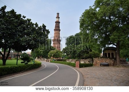 The Tallest Minaret In India Is A Marble And Red Sandstone Tower That Represents The Beginning Of Mu
