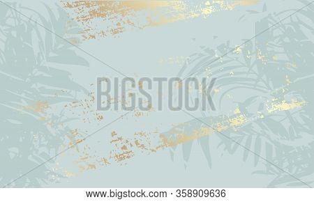 Vector Art Illustration In Pastel Gold Rose Blu Color.