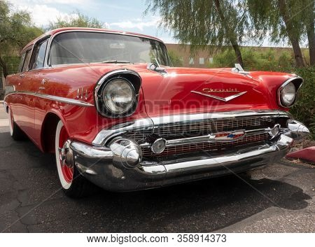 Scottsdale,Az/USA - 9.16.19:  The Chevrolet Bel Air was a full-size car produced by Chevrolet for the 1950–1981 model years.