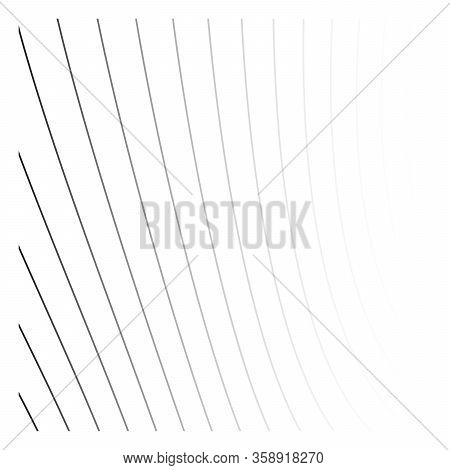 Thin Gray Gradient Lines Pattern Background. Simple Vector Abstract Pattern