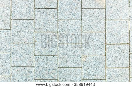 Gray Paving Slabs For A Background, Quadrangle Pattern