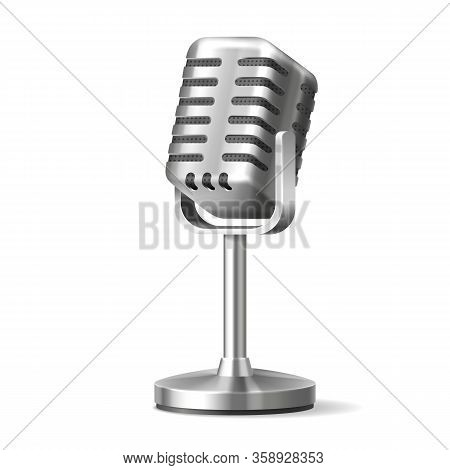 Radio Microphone Or Karaoke Mic With Stand