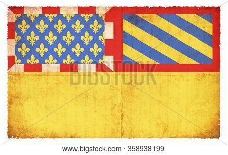 Grunge Flag Cote D`or (france)
