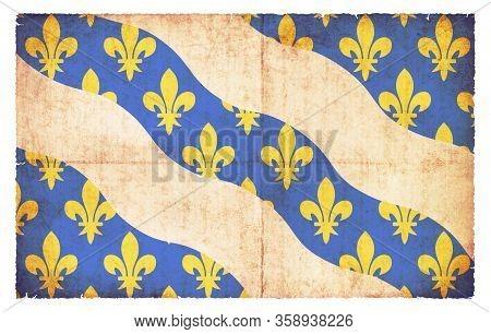 Grunge Flag Yvelines (france)