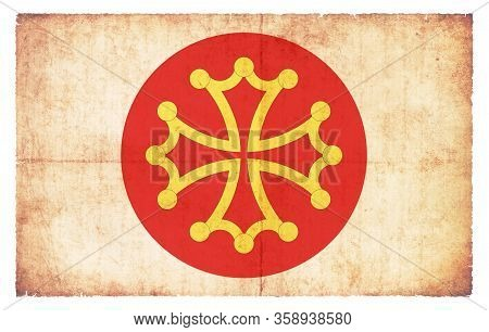 Grunge Flag Herault (france)