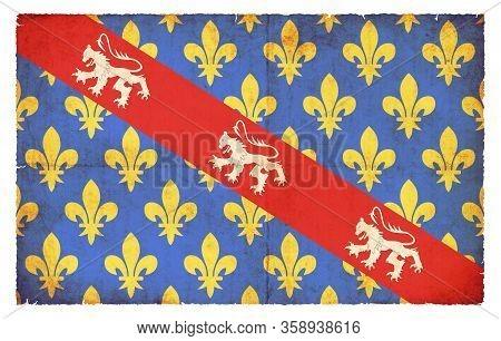 Grunge Flag Creuse (france)