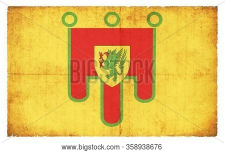 Grunge Flag Puy-de-dome (france)