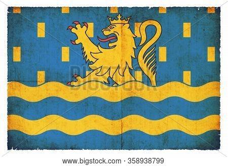 Grunge Flag Doubs (france)