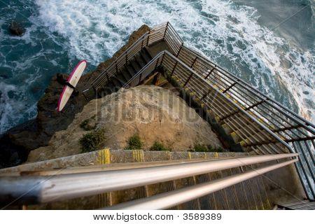 Surfer At The Cliffs