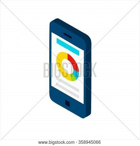 Mobile Stock Data Vector Icon On White Background. Vector Mobile Stock Data Icon Symbol Sign From Mo